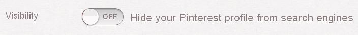 Button Pinterest Suchmaschinensichtbarkeit einschalten