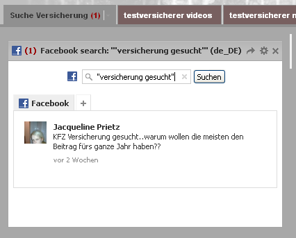 Spracheinstellung Facebook Monitoring