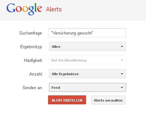 Google Alert einrichten