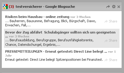 Widget Google Blogsuche