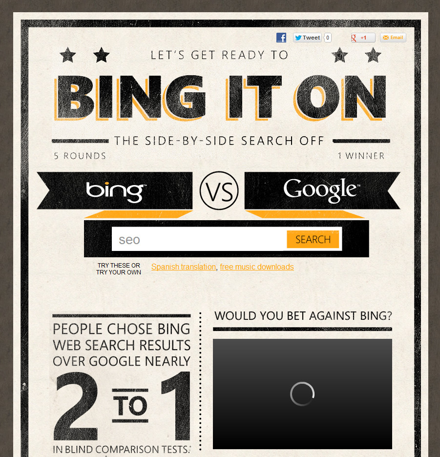 Bing It On - Bing vs. Google