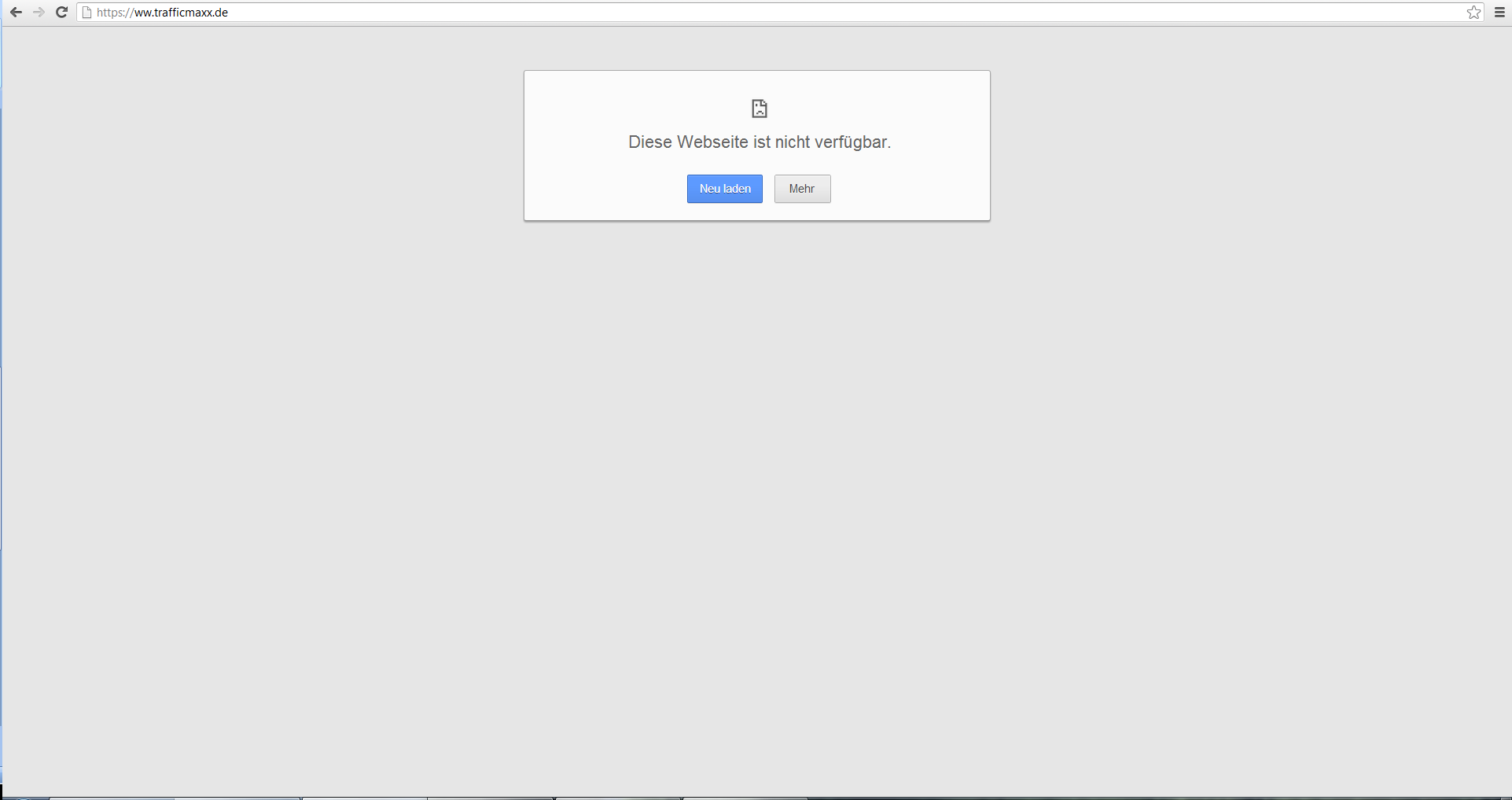 Google Chrome Error-Seite DNS