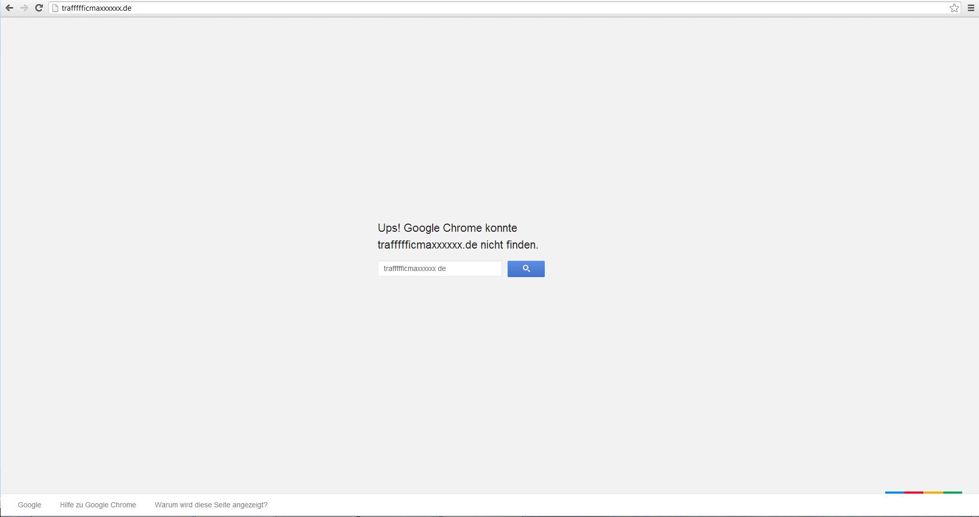 Google Chrome Error-Seite