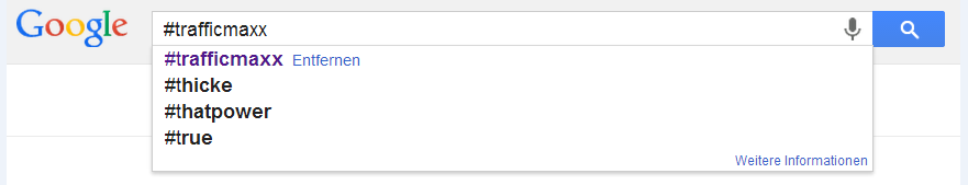 Hashtag bei Google1