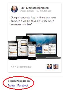 Hashtag bei Google3