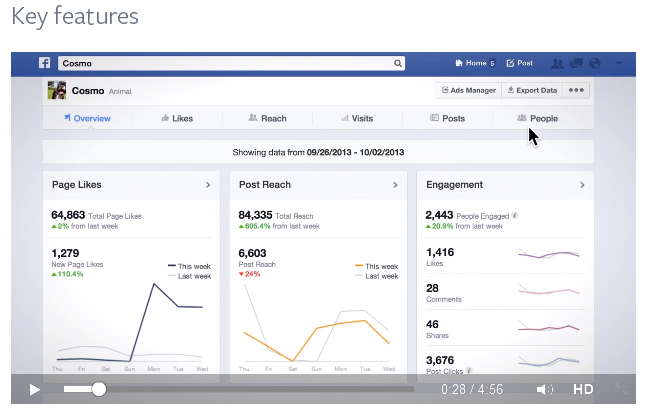 Facebook Page Insight Key Features