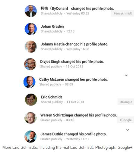 Update: Ein kleiner Nachtrag – die Google+-Gemeinde scheint von der geplanten Änderung nicht allzu viel zu halten, was natürlich nicht so ganz unerwartet daher kommt. Jetzt haben viele User ihr Profilbild aus Protest geändert und lassen sich nun stattdessen dort von Eric Schmidt vertreten. Das ist der Chef-Aufseher bei Google und dessen Bild würde demnach bei allen entsprechenden Werbeanzeigen auftauchen. Bislang gab es noch kein Statement von Google zur Sache und es bleibt auch fraglich, ob das kreative Engagement der Nutzer zu irgendeiner Veränderung führen wird.