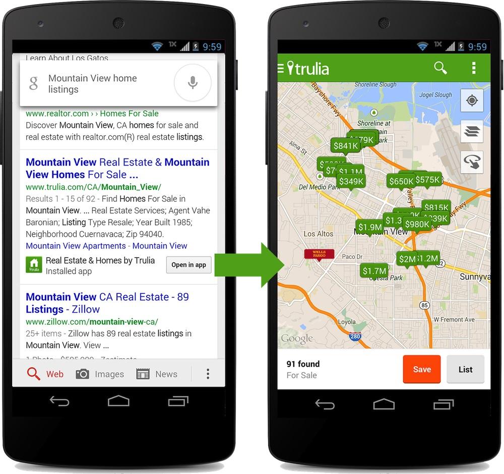 Google SERPs App-Deeplinks