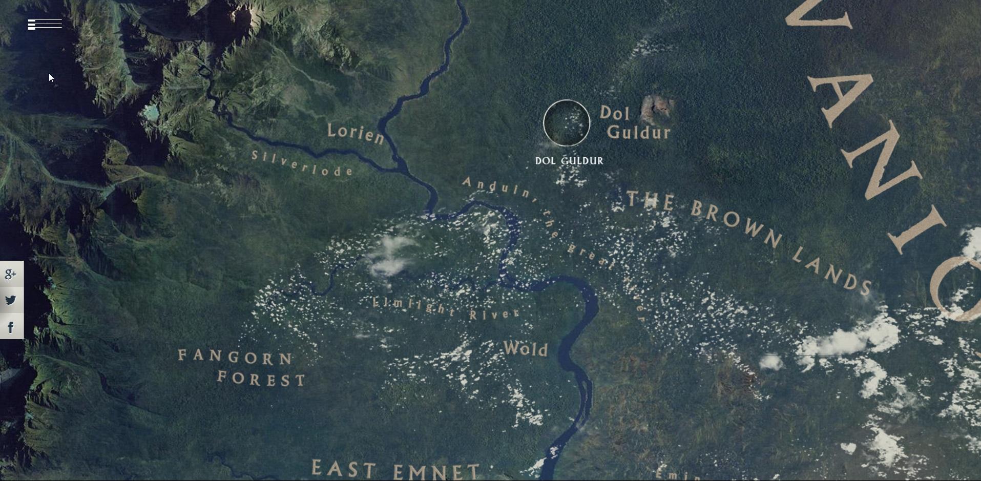Mittelerde - interaktive Karte Startseite Thumbnail