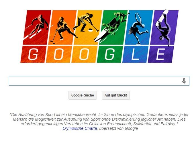 Google Doodle Sotschi 2