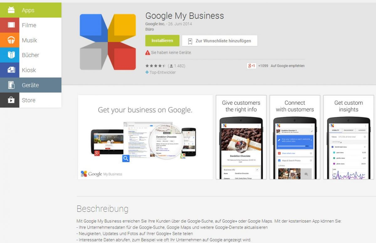 Google My Business Google Play