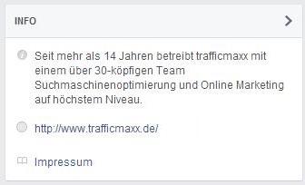 Facebook Info Impressum