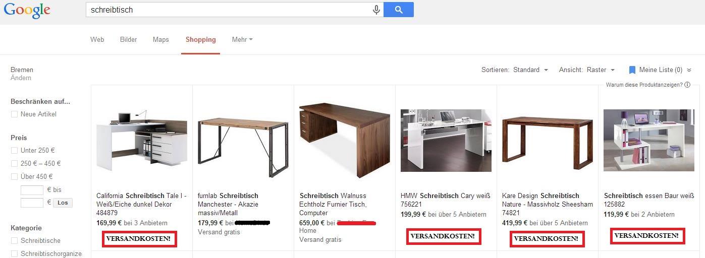 Google Shopping Werbetreibenden Droht Abmahnung