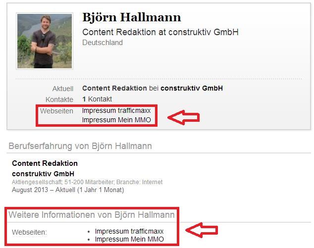 LinkedIn Impressum