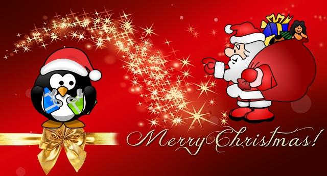 Weihnachten Pinguin Weihnachtsmann