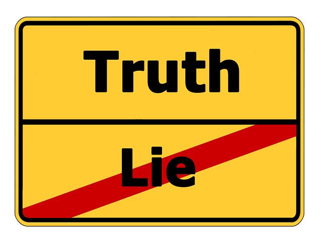 Wahrheit Lüge Schild 2