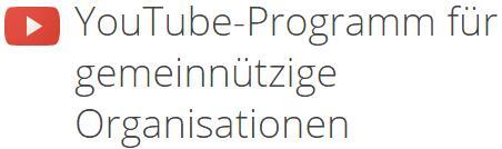 YouTube-Programm für Non-Profits