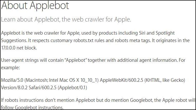 Applebot Erklärung