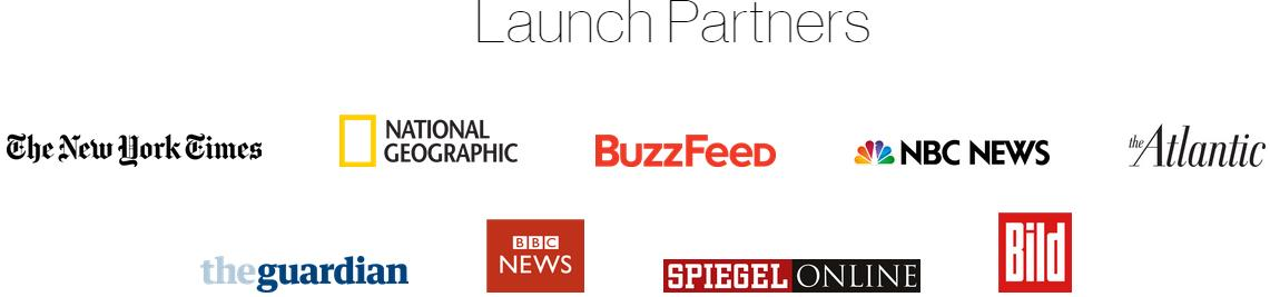 Facebook Instant Articles Launch Partners
