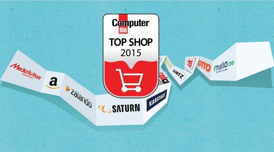 Online-Shop-Studie 2015 statista - Computer Bild Qualitätssiegel