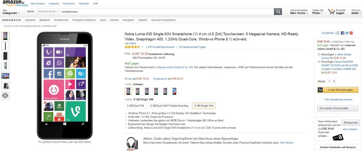 trafficmaxx - Amazon Produktbeschreibung gut