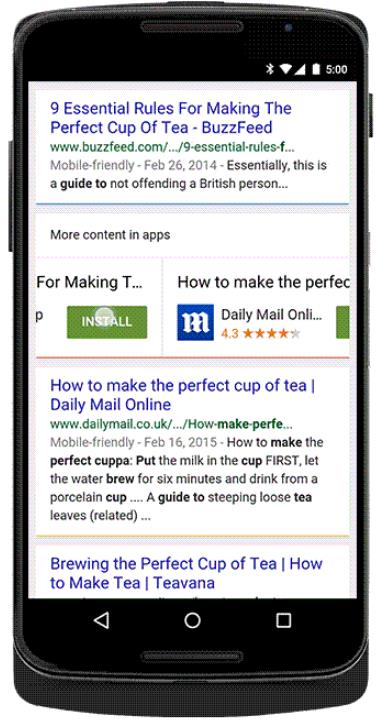 trafficmaxx - Smartphone Apps SERP Install Button