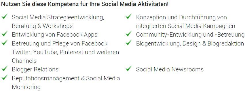 Social Media Team construktiv - Dienstleistungen