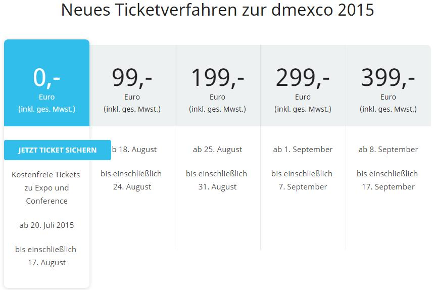 dmexco 2015 ticketverfahren - trafficmaxx