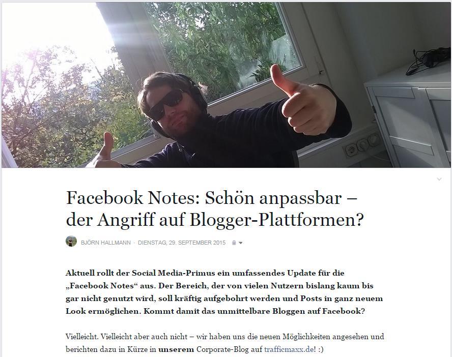 Corporate-Blogger - Björn Hallmann - trafficmaxx