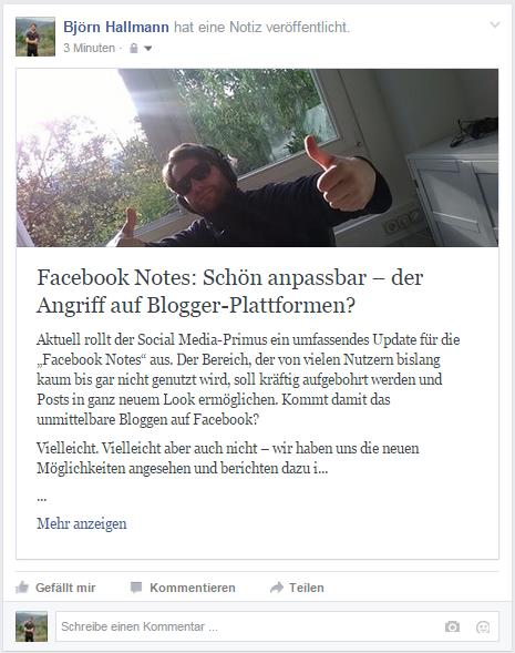 Facebook Notes / Preview - Corporate-Blogger - Björn Hallmann - trafficmaxx