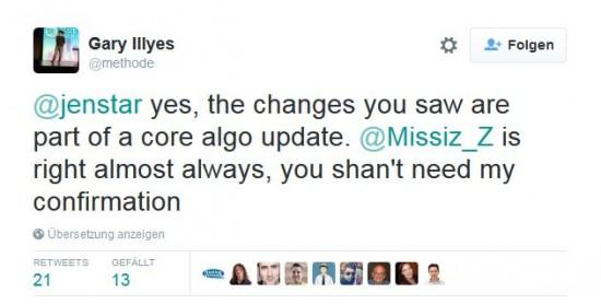 Gary-Illyes Tweet zum Google Core Update - traffcimaxx