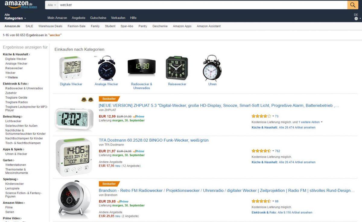 Amazon als Suchmaschine