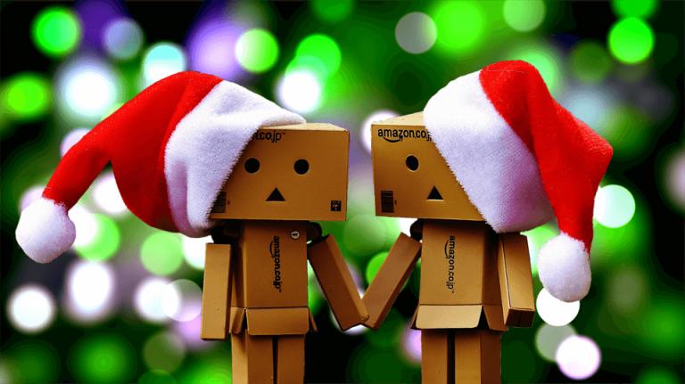 Weihnachten Online-Shopping Amazon