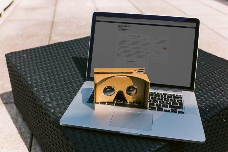 laptop-cardboard construktiv VR-Team/Labor