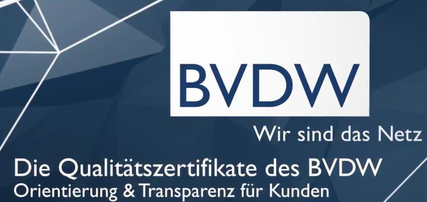BVDW - Opener Video - Qualitätszertifikate