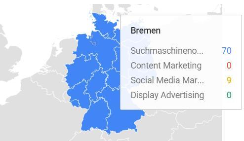 Google Trends Suchanfragen SEO Niedersachsen