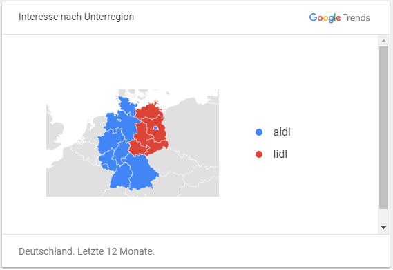 Aldi Lidl Deutschlandkarte