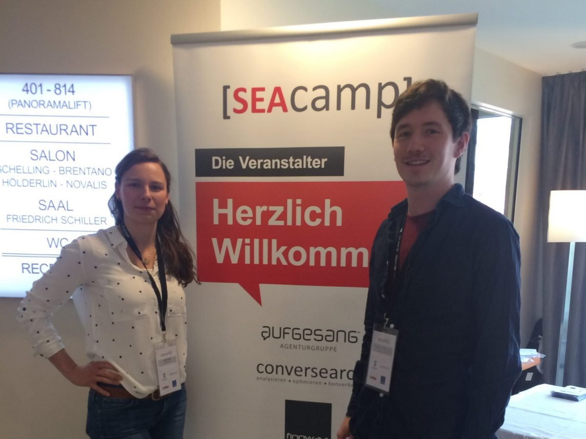 Katja Staudt und Sebastian Müller bei dem SEA Camp 2017 in Jena