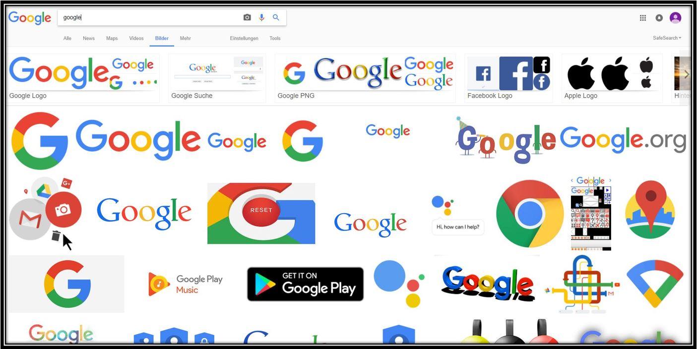 Google Bildersuche Ergebnisseite