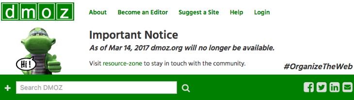 dmoz header last notice