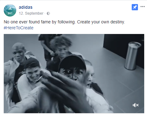 Facebook adidas
