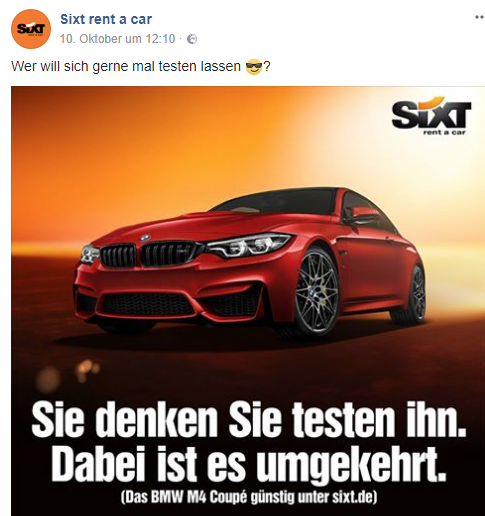 Facebook Sixt