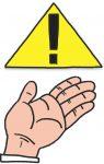 Achtung Hand Aufgepasst Ausrufezeichen