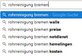 Local SEO Google Suggest