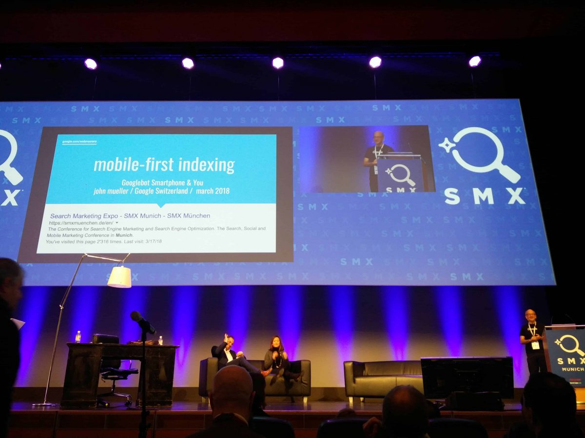 "John Müller auf der SMX 2018 ""SEO für Googles Mobile-First Index die Mobile-Friendly Welt"""