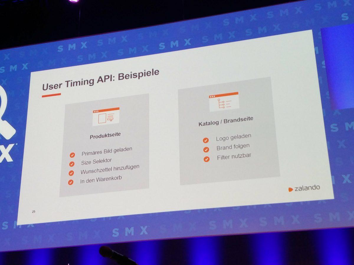 Zalando SEO Tests - User Timing API Prinzipdarstellung