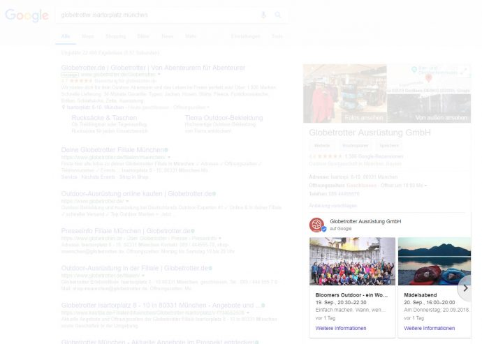 Google Post im Local Knowledge Panel auf der SERP